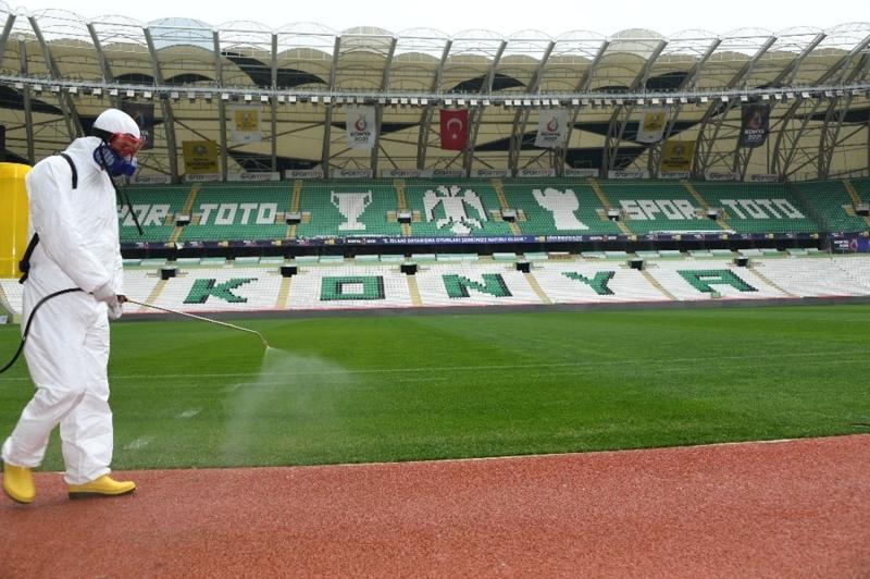 Konyaspor'un stadı, Fenerbahçe maçı öncesi dezenfekte edildi