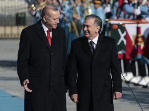 Özbekistan Cumhurbaşkanı Mirziyoyev Ankara'da