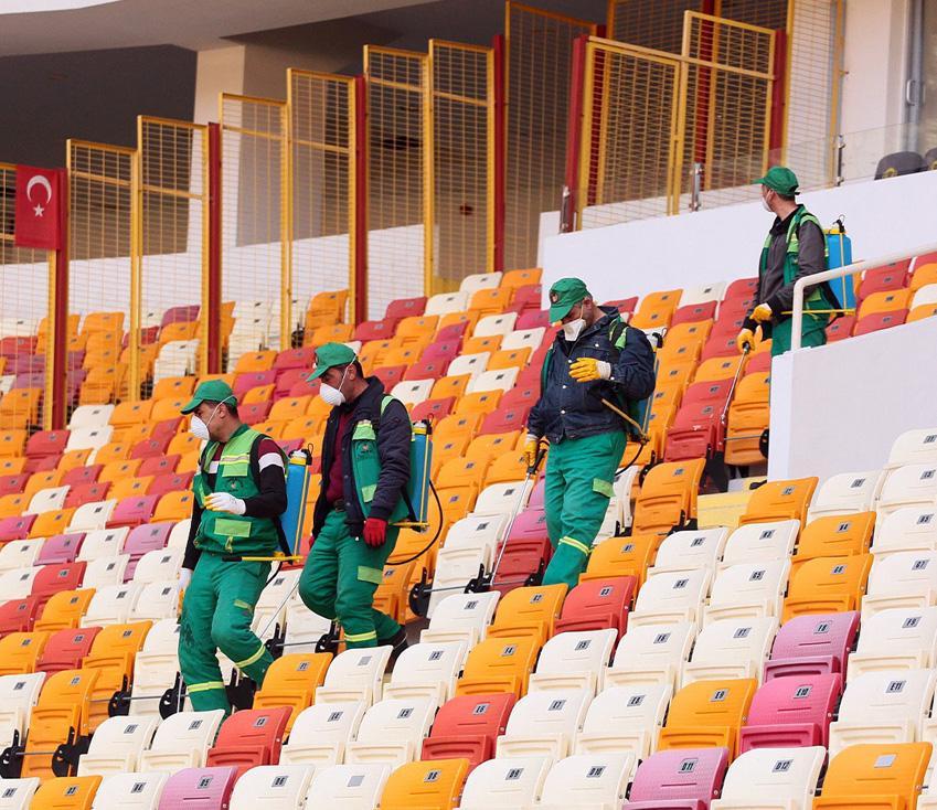 Yeni Malatyaspor - Trabzonspor maçı öncesi 'corona' önlemi