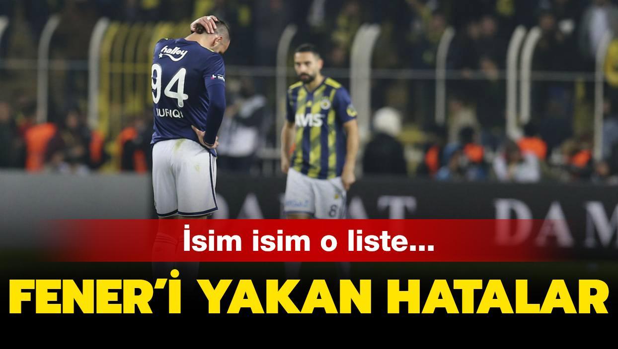 Fenerbahçe'yi yakan hatalar