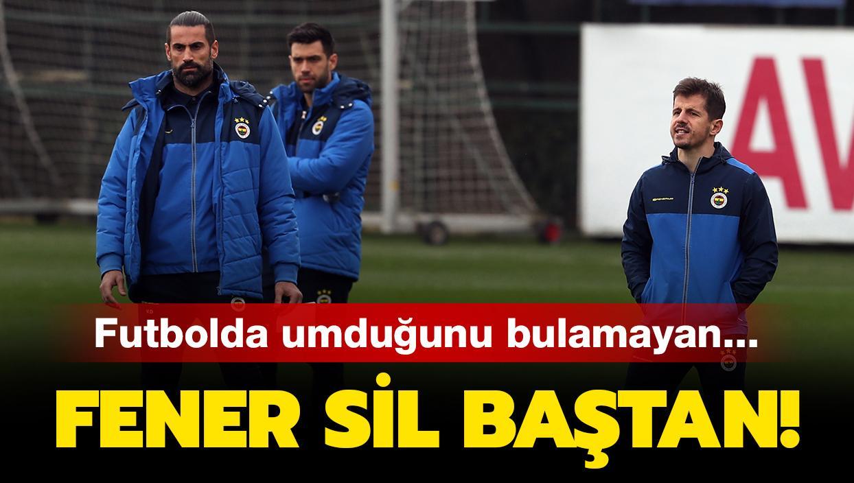 Fenerbahçe sil baştan! İşte o köklü değişikler...
