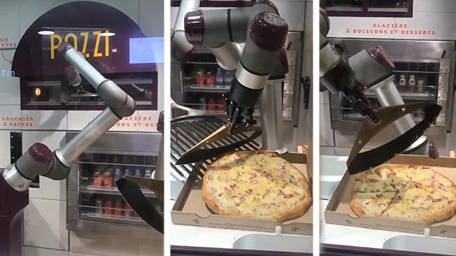 Bu Robot Pizzayı Yapıp,Pişirip,Paketliyor