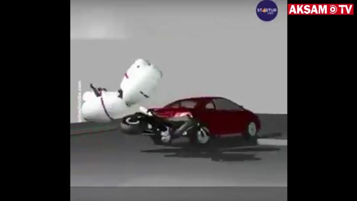 Motosiklet Kazası Tehlikesinin Önüne Geçmek İçin Harika Çözüm!