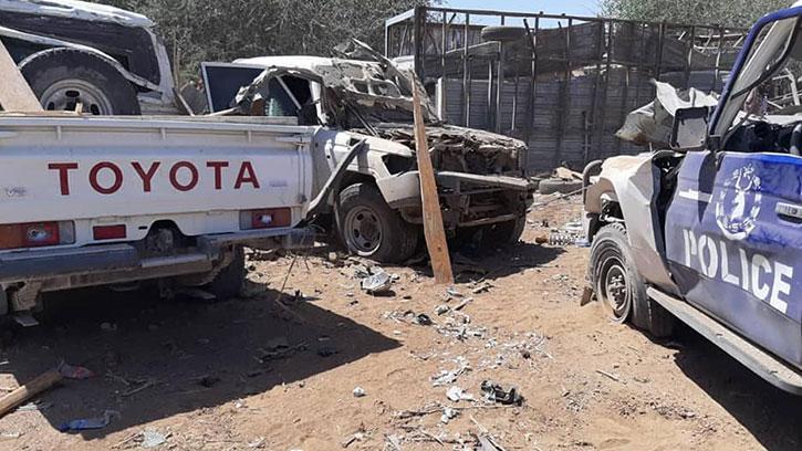 Somali'de Bombalı Saldırının Düzenlendiği Alandan Görüntüler