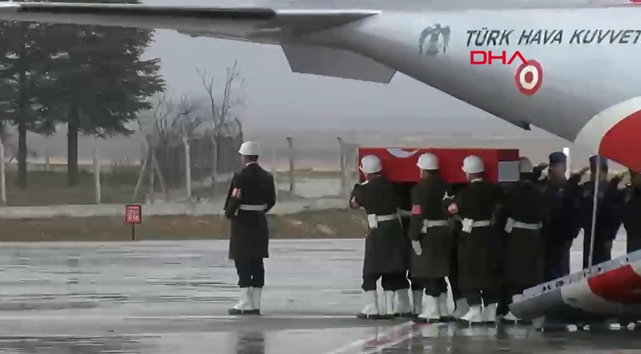 İdlib şehidimizin cenazesi törenle karşılandı