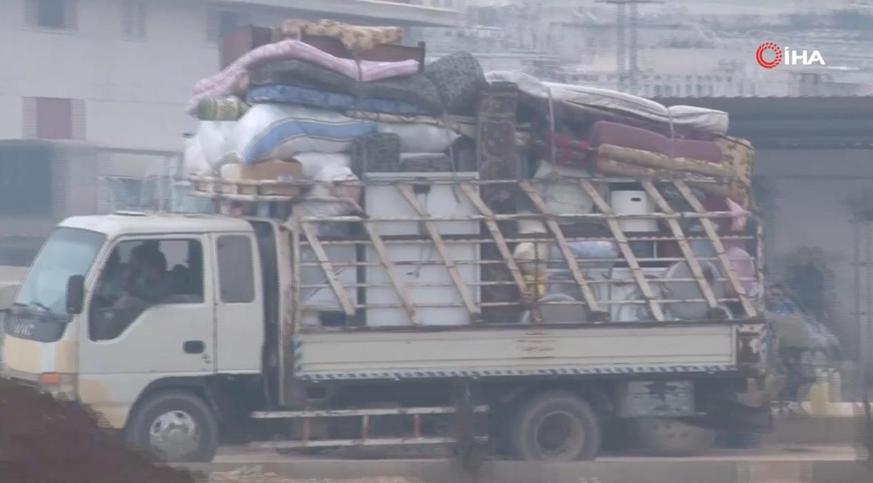 Ölümden kaçış konvoyu! İdlib'den göç sürüyor...