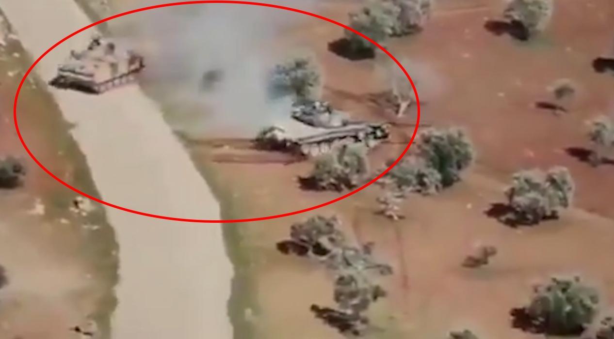 İdlib'de muhalifler, Esed'ın tankını ZPT ile kovaladılar
