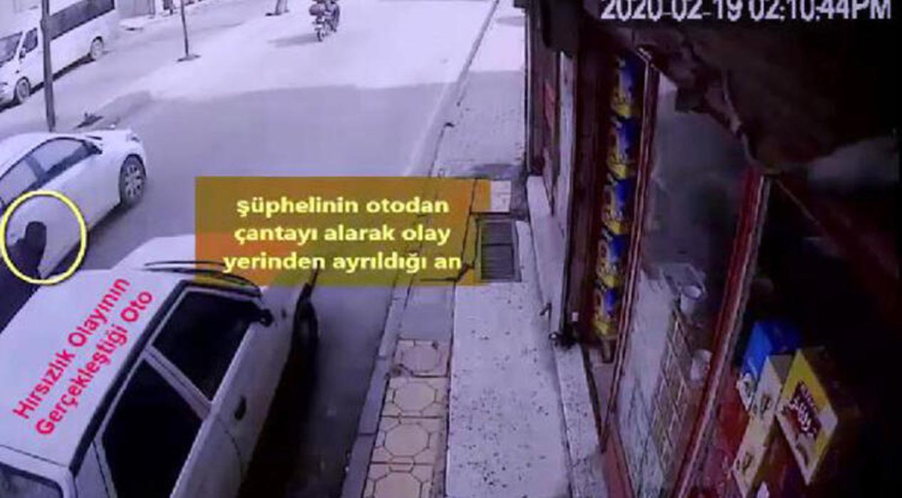 Gaziantep'te perdeleme yöntemiyle hırsızlık anı!