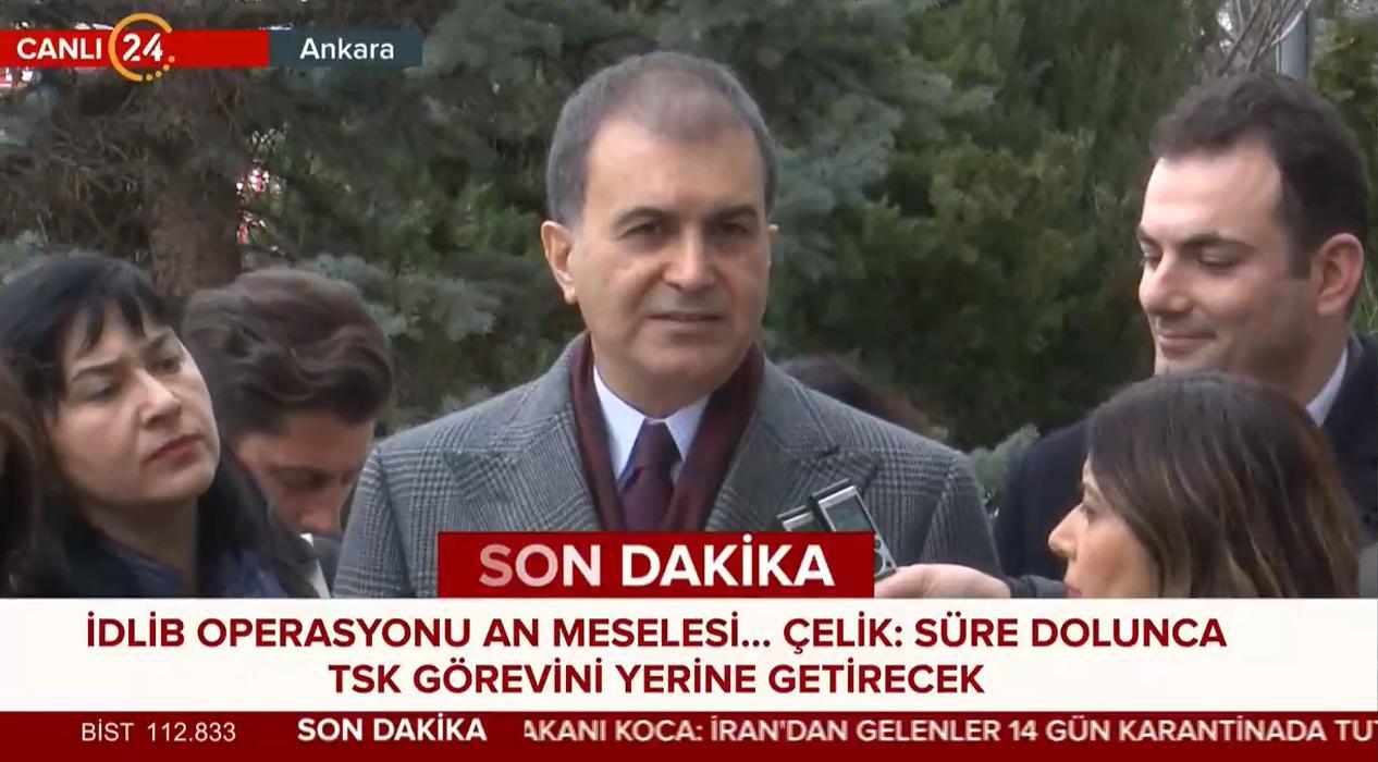 AK Parti Sözcüsü Çelik'ten İdlib Açıklaması