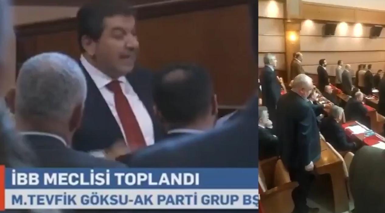 İBB Meclisi'nde İstiklal Marşı okunurken bazı CHP'liler ayağa kalkmadı