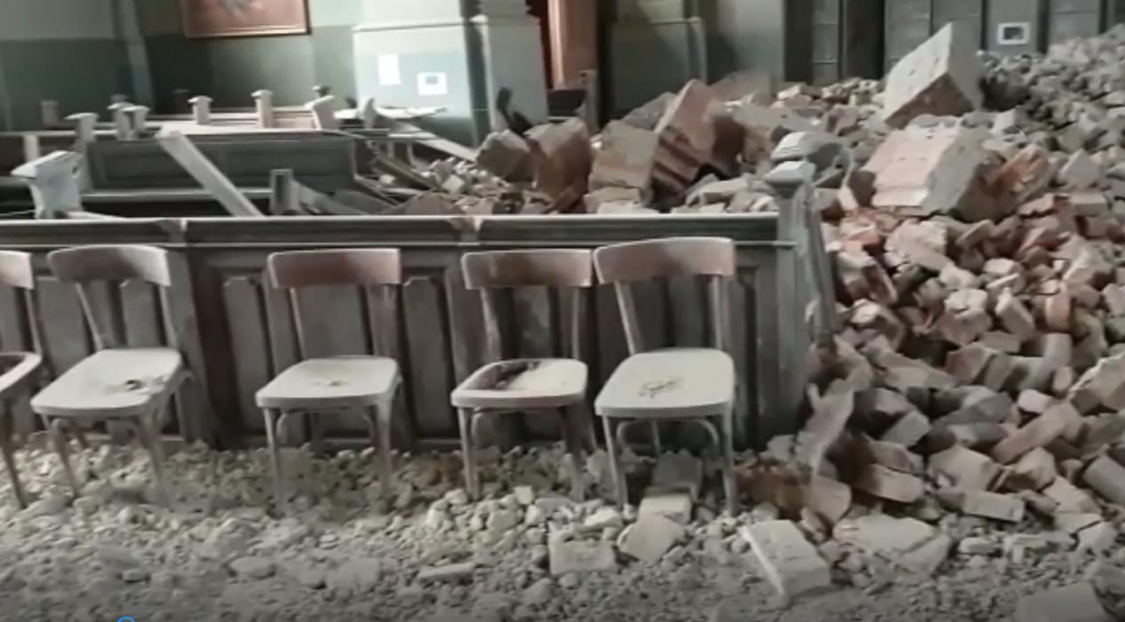 Hırvatistan'da 5.3 büyüklüğündeki depremden yeni görüntüler