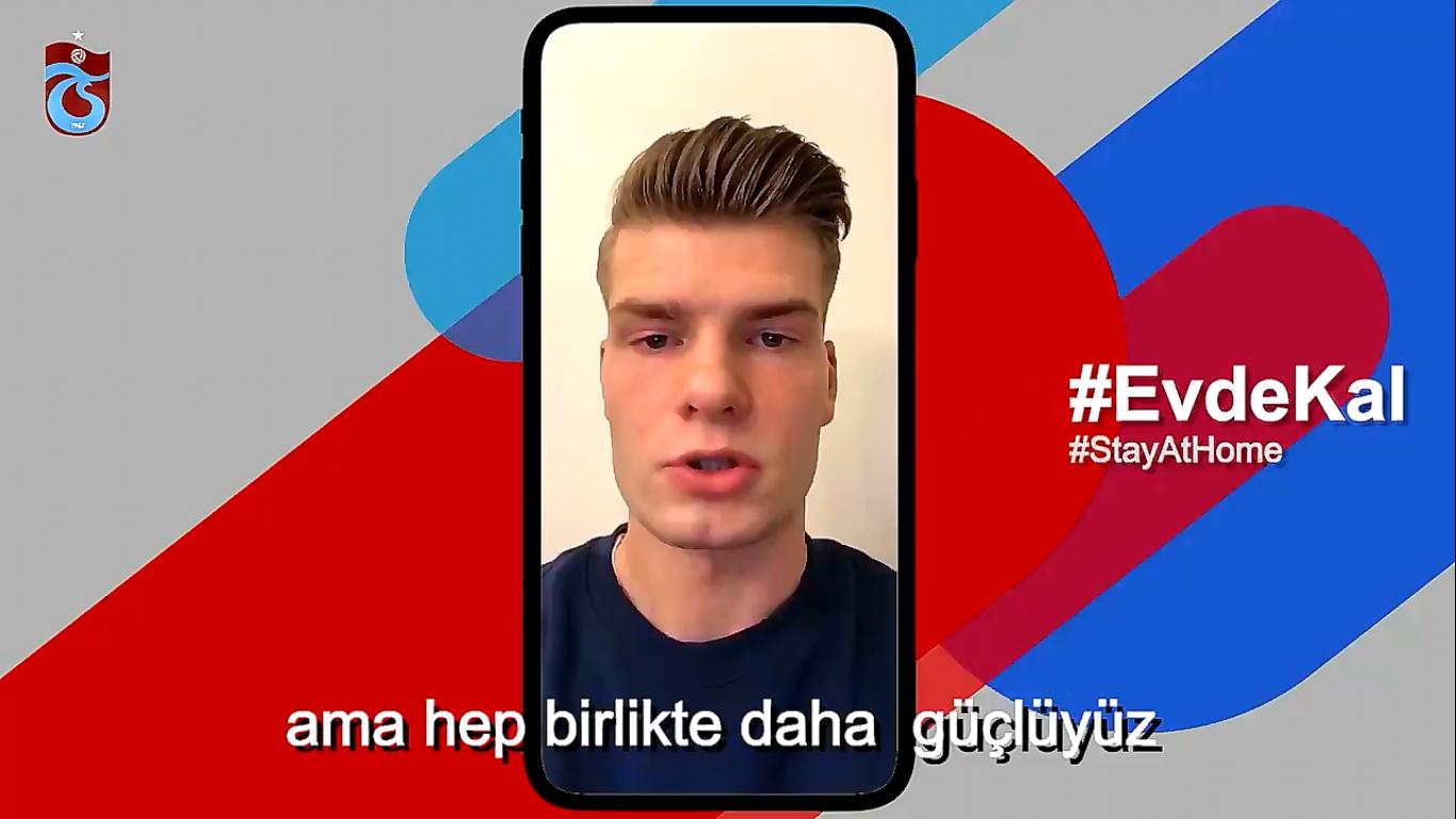 Trabzonspor'lu futbolculardan mesaj var: Evde kal, Güvende Kal