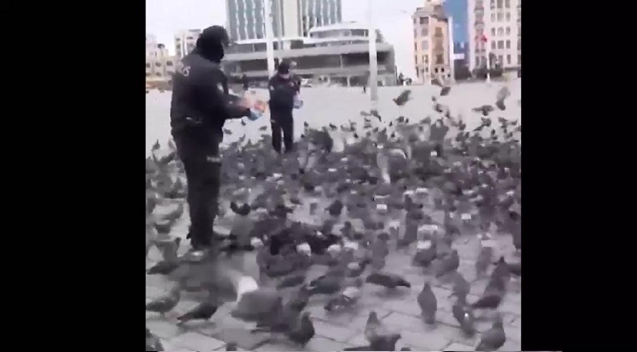 Türk Polis Teşkilatı'nın şefkatli elleri güvercinlere değdi