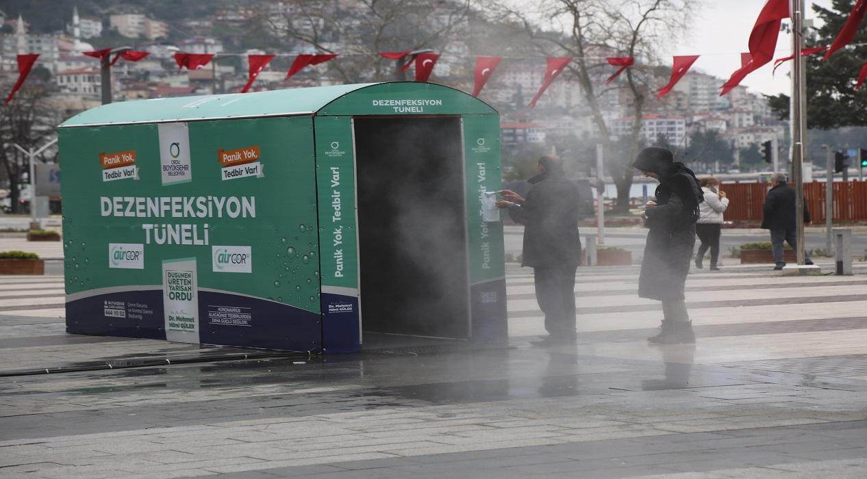 Türkiye'de bir ilk! Koronavirüse karşı 'Dezenfekte Tüneli'