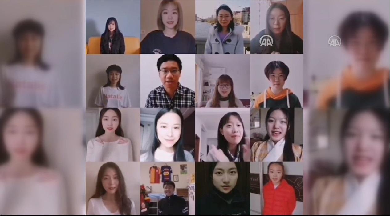 Çinli öğrencilerden Türkiye'ye destek mesajı
