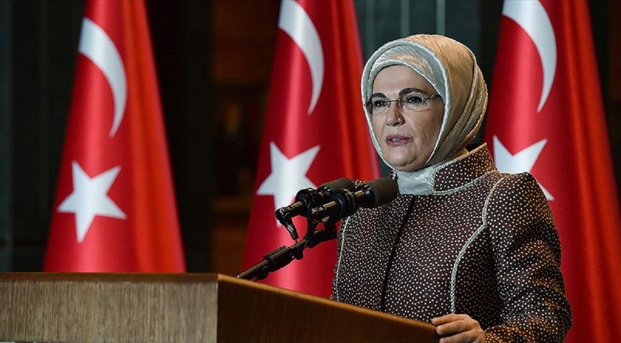 Emine Erdoğan'dan gençlere dayanışma çağrısı