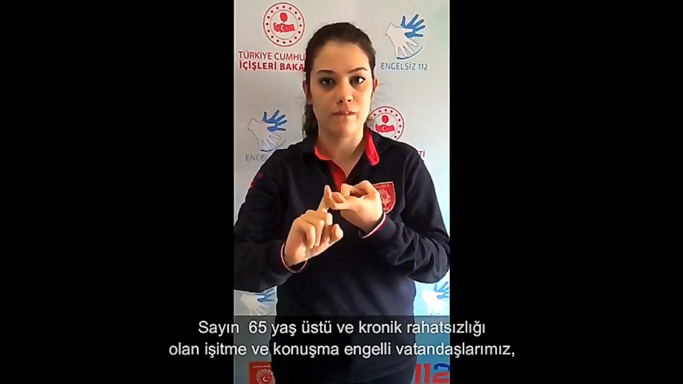 Acil Çağrı Merkezi çalışanları engelli vatandaşlara yönelik bilgilendirme videosu hazırladı