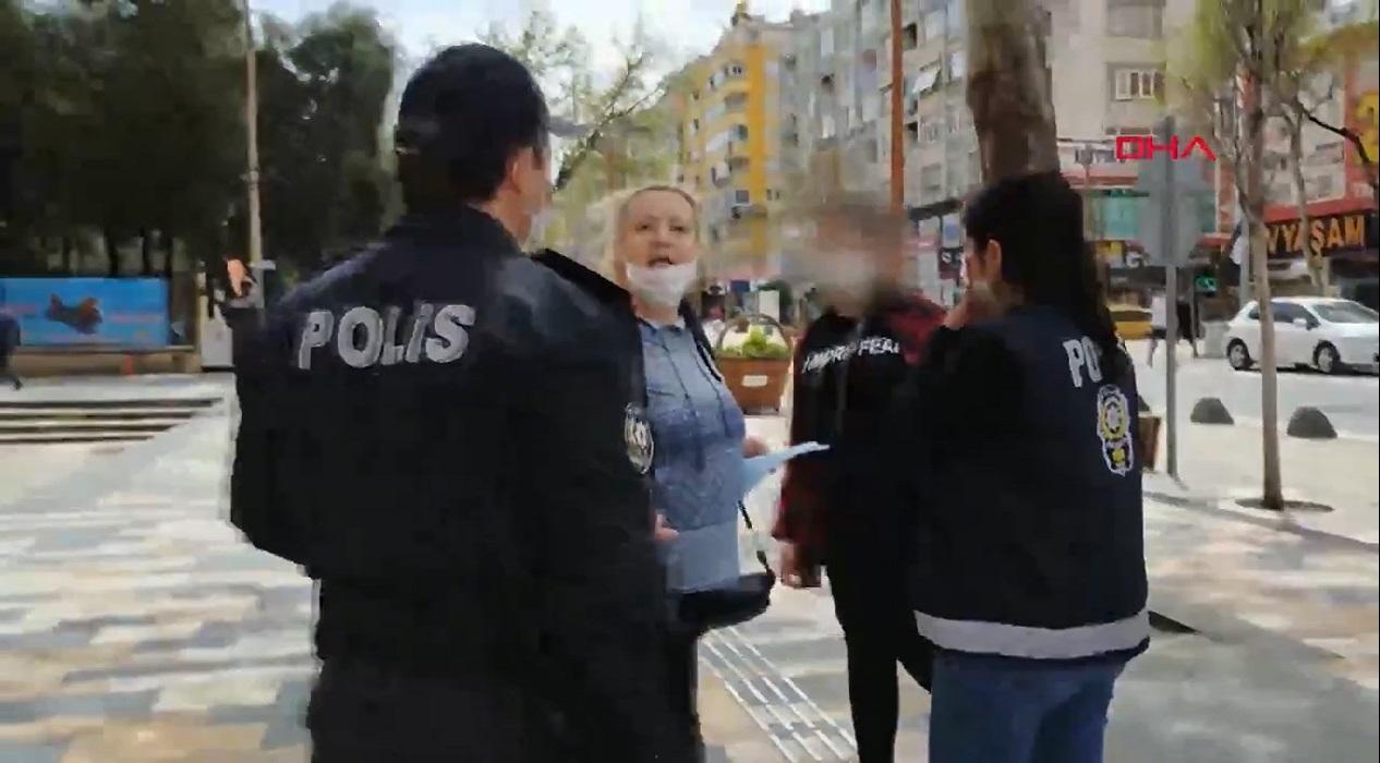14 yaşındaki kızını yasağa rağmen sokağa çıkaran kadın, kendisini çeken gazeteciyi tehdit etti!