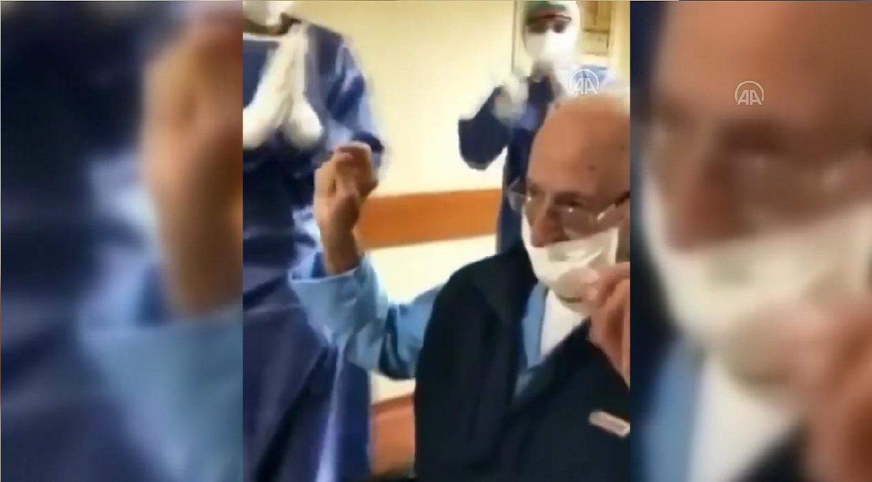 95 yaşındaki İsmail amca koronavirüsü yendi!