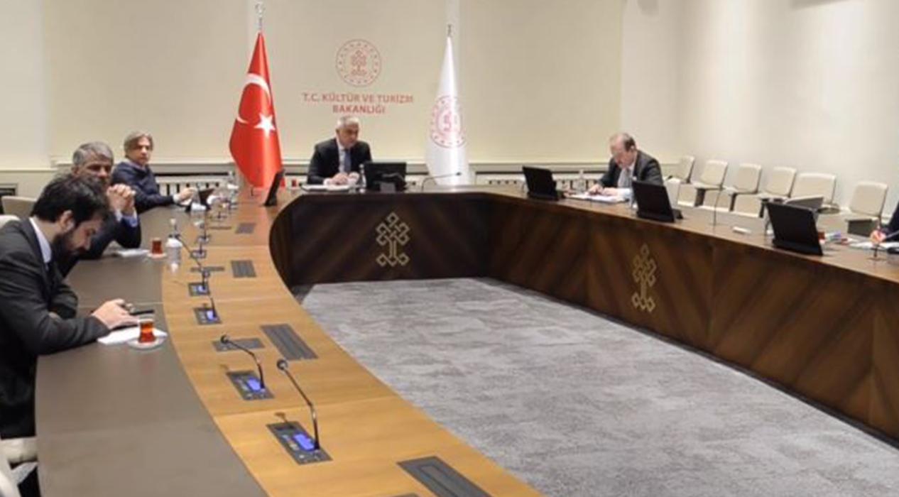 Kültür ve Turizm Bakanı Ersoy Video konferans toplantısı