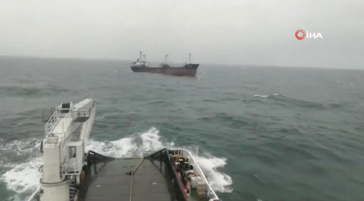 Şile açıklarında korkutan anlar... Kargo gemisi sürüklendi!