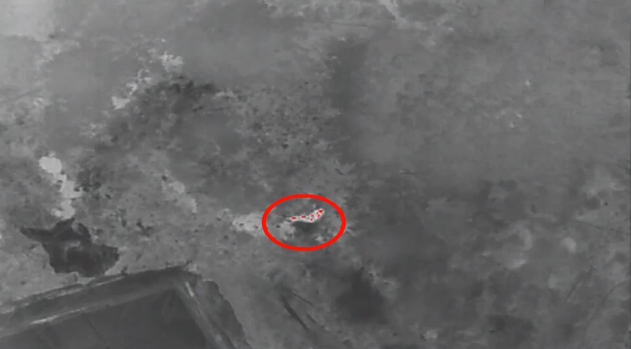 Gece kaybolan alzaymır hastasını termal kameralı 'drone'la buldular