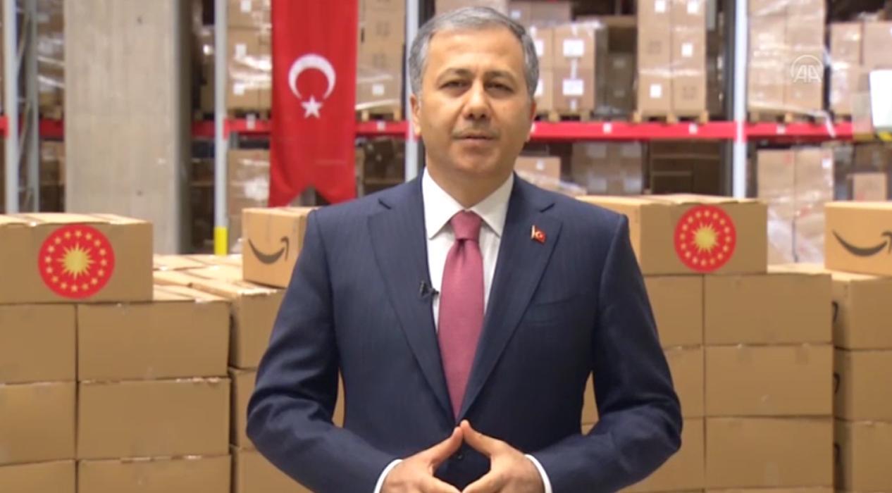 İstanbul Valisi Ali Yerlikaya, maske ve kolonya paketleri hakkında bilgi verdi