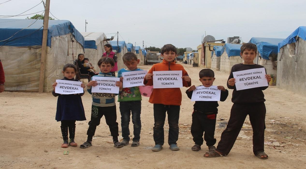 Suriyeli çocuklardan Türkiye'ye 'evde kal' çağrısı: 'Dualarımız sizinle...'