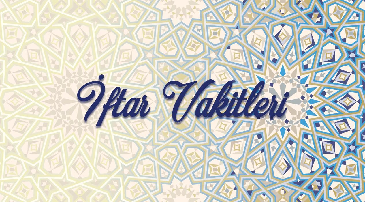 16 Mayıs Cumartesi il il iftar vakitleri