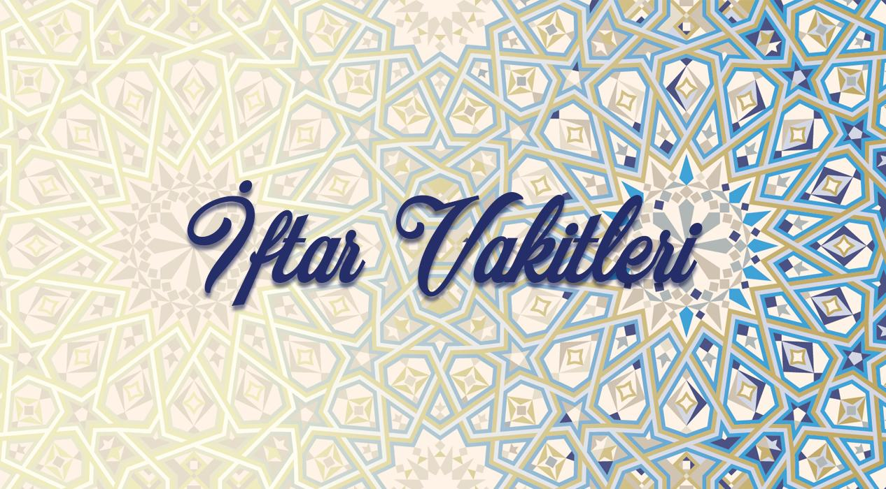 19 Mayıs Salı il il iftar vakitleri