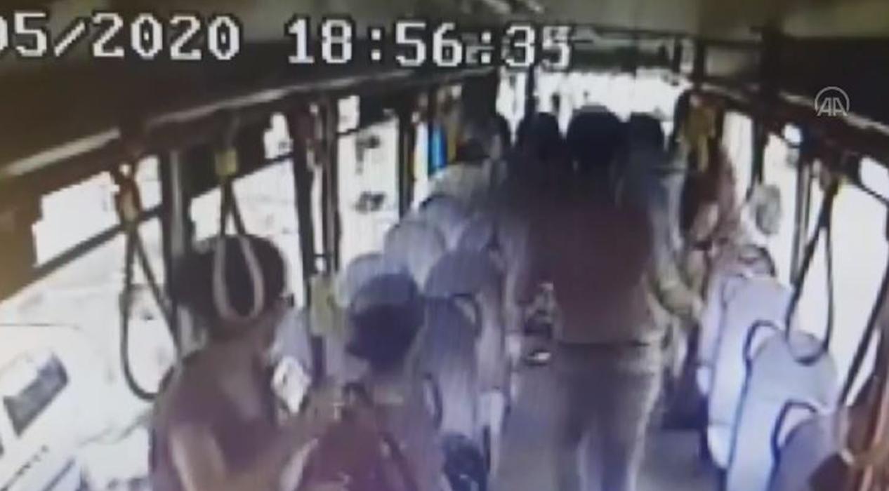 Otobüste kadının çantasından para çalan hırsız tutuklandı