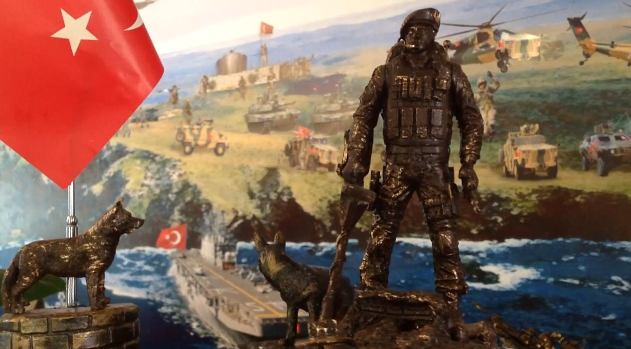 Heykeltıraştan Cumhurbaşkanı Erdoğan'a anlamlı hediye