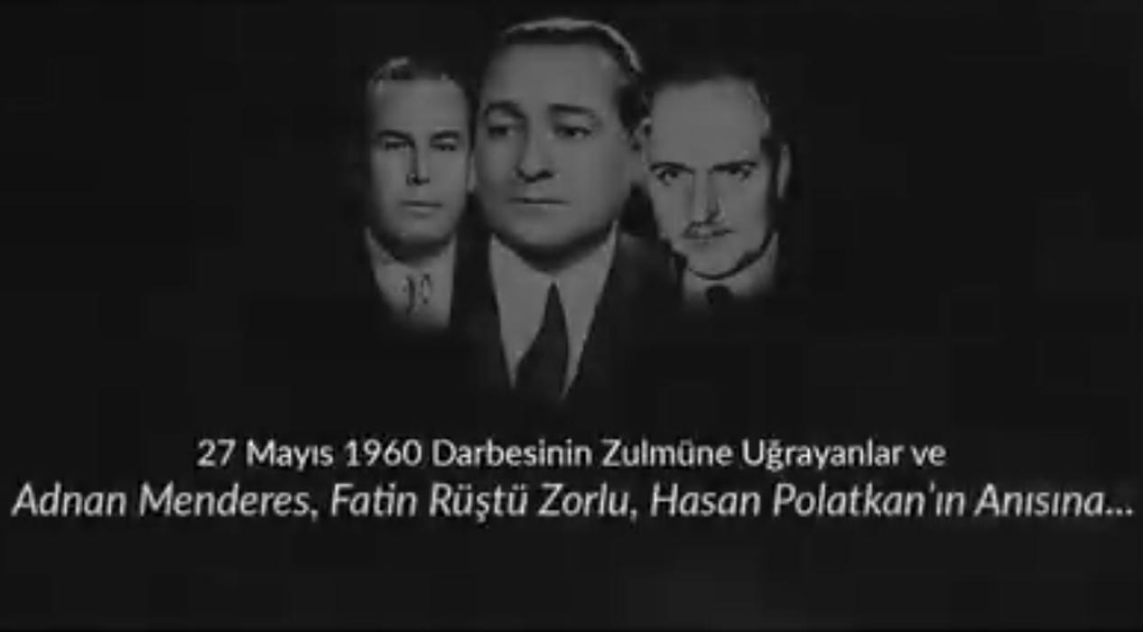 27 Mayıs 1960 darbesinin yıl dönümünde, demokrasi şehitlerini rahmetle anıyoruz