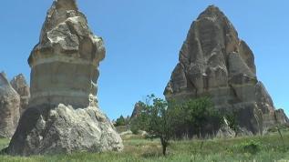 Kapadokya'da baharın güzellikleri hayran bırakıyor