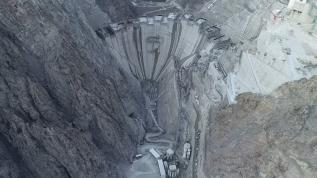 Yüksekliği 205 metreye ulaştı,Türkiye'nin en yüksek barajı olacak