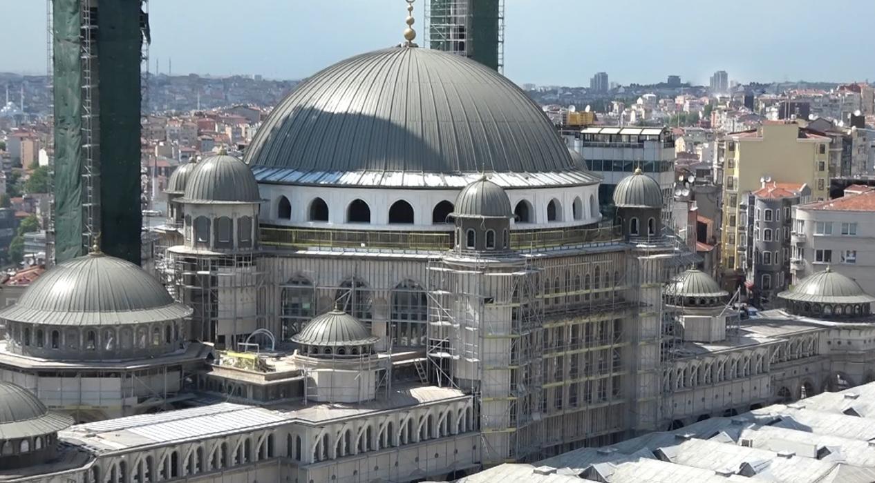 Taksim Camii'nin yüzde 90'ı tamamlandı