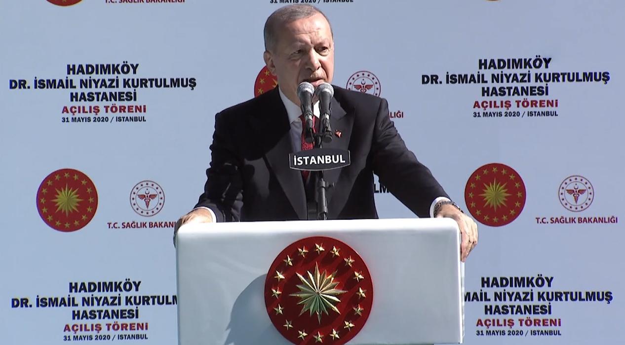 Başkan Erdoğan, restore edilen Dr. İsmail Kurtulmuş Hastanesi'nin açılışını yaptı