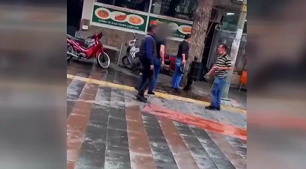 Sokak köpeğine sopayla vuran kişi ifade verdi