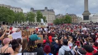 İngiltere'de 'Floyd' protestosu