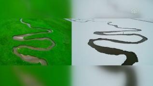 Van'daki menderesler yılın her döneminde görsel şölen sunuyor
