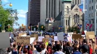 Floyd protestoları Kanada'ya sıçradı!