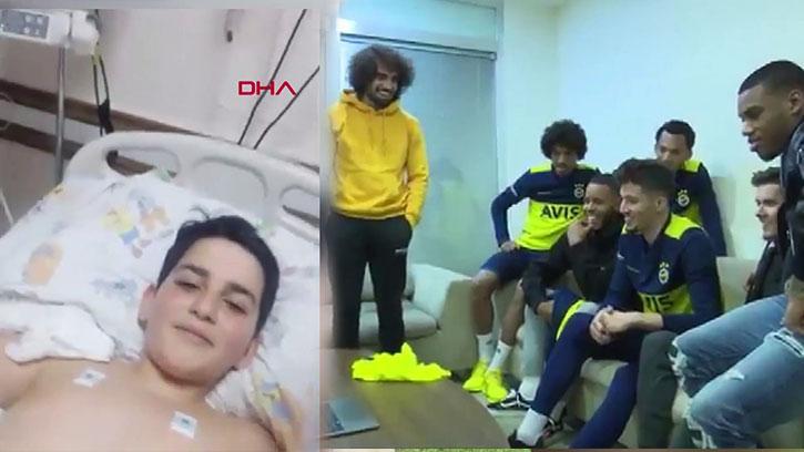 Fenerbahçeli Futbolculardan Elazığ'da Göçük Altından Kurtarılan Emir'e Destek