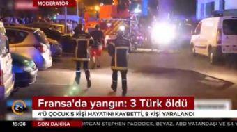 Fransa'da korkutan yangın: 3 Türk yaşamını yitirdi