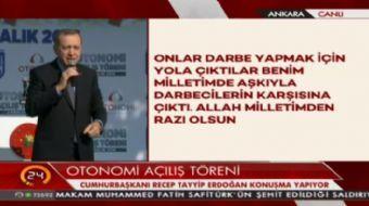 Cumhurbaşkanı Erdoğan: Yine söylüyorum kriz teğet geçecek, oyunu bozacağız.