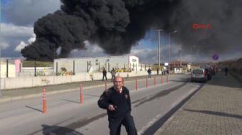 Kocaeli Dilovası ilçesi Kimya İhtisas Organize Sanayi Bölgesi içinde bulunan bir fabrika ait depoda