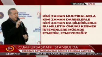 Cumhurbaşkanı Erdoğan: Bayrağı gençlere devredeceğimiz güne kadar mücadeleyi sürdüreceğiz
