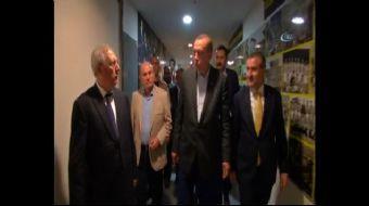 Cumhurbaşkanı Recep Tayyip Erdoğan, Sturm Graz'ı eleyen Fenerbahçeli oyuncuları soyunma odasında teb