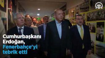 Cumhurbaşkanı Recep Tayyip Erdoğan, Fenerbahçe'nin Avusturya temsilcisi Sturm Graz'la 1-1 berabere k