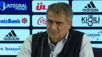 """Beşiktaş Teknik Direktörü Şenol Güneş, """"Kaybettiğiniz zaman rakibiniz size yanaşıyorsa beraberlik kö"""