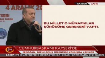 Cumhurbaşkanı Erdoğan: Dünyanın bir köşesine kaçıyorlar. Ama şunu bilin siz kaçacaksınız biz kovalay